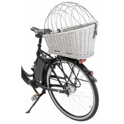 Trixie Cesto Bici in Vimini per Retro con Grata - Grigio