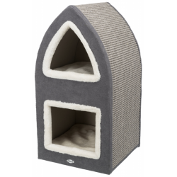Trixie Cat Tower Marcy - Crema/Grigio