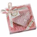 Dolci Impronte Biscotto Cuore Happy Birthday - Rosa