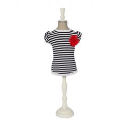 T Shirt Nina_colore Bianco E Blu_taglia S-m