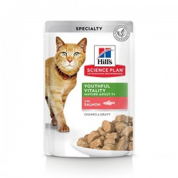 Hill's Cat Youthful Vitality Adult7+ Bustina Salmone 85g