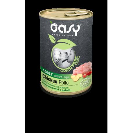 Oasy Dog GRAIN FREE Adult Medium/Large - Tocchetti di Pollo 400g