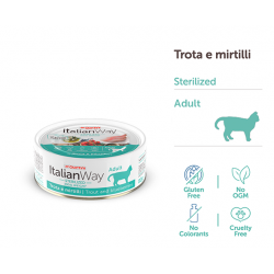 ItalianWay Cat Adult Sterilized Ideal Weight - Trota e Mirtillo
