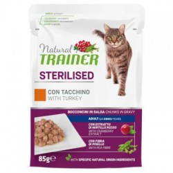 Natural Trainer Cat Adult Sterilised - BUSTA con Tacchino 85g