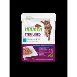 Natural Trainer Cat Adult Sterilised - BUSTA con Merluzzo 85g