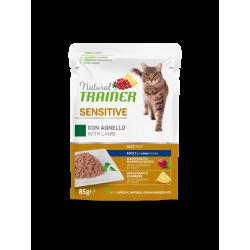 Natural Trainer Cat Adult SENSITIVE - BUSTA con Agnello 85g