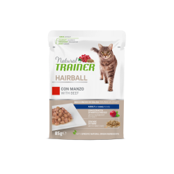Natural Trainer Cat Adult HAIBALL - BUSTA con Manzo 85g