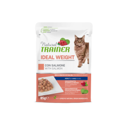Natural Trainer Cat Adult IDEAL WEIGHT - BUSTA con Salmone 85g