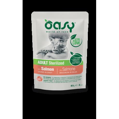 Oasy Cat Adult Sterilized Bocconcini in Salsa Gr.85
