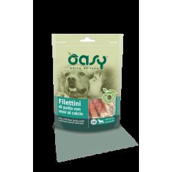 Oasy Dog Snack - Filettini di Pollo con Ossi al Calcio - 100g