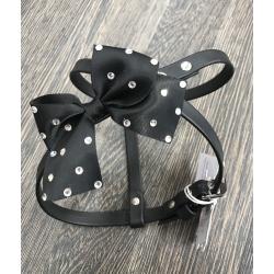 Charlotte's Dress Pettorina So Chic Easy Adjustable SPECIAL 1 Fiocco Melody - Nero