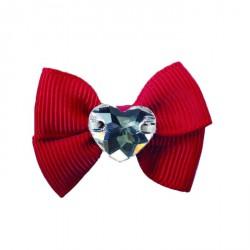 Charlotte's Dress Hair Clip Grace - Fiocchetto con Swarovski Rosso