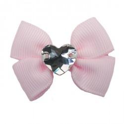 Charlotte's Dress Hair Clip Grace - Fiocchetto con Swarovski Rosa