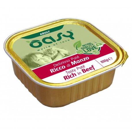 Oasy Tasty Delizioso paté al manzo per gatti 100g