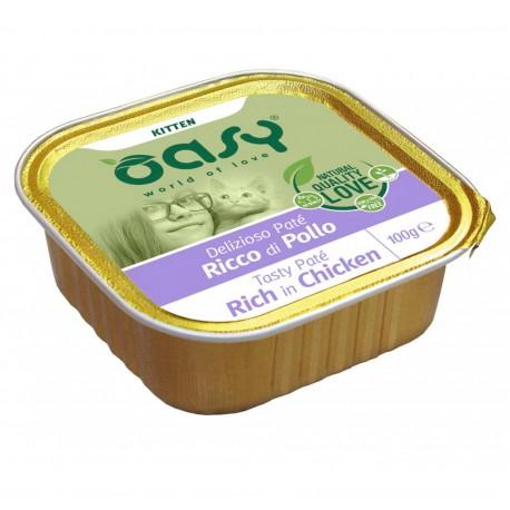 Oasy Tasty Delizioso paté per gattini al pollo 100g