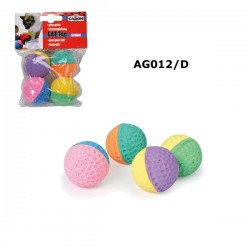Camon 4 palline in spugna Sponge Round Ball 40 mm