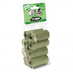 Imac Sacchetti igienici biodegradabili 8 Rotoli da 15 Sacchetti