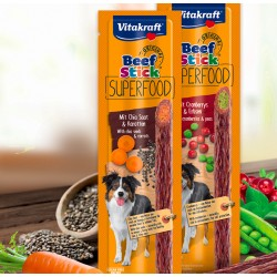 Vitakraft Beef Stick Super Food Carote e Semi di Chia 25g