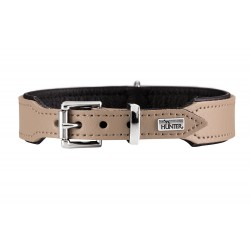 Hunter Halsband Basic Collare Hunter colore Beige & Nero varie taglie