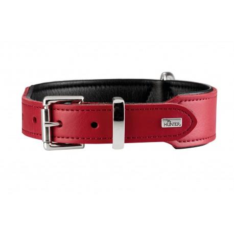 Hunter Halsband Basic collare Rosso & Nero