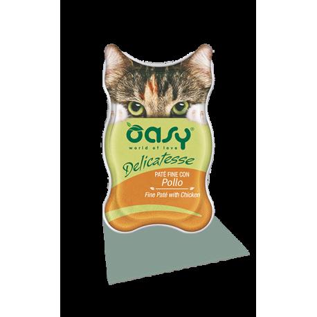 Oasy Cat Delicatesse pate' per gatto 85 g. POLLO