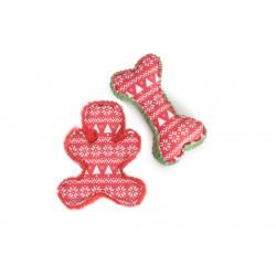 Camon Gioco Cane Osso e Gingerbread di  Natale 22 cm.