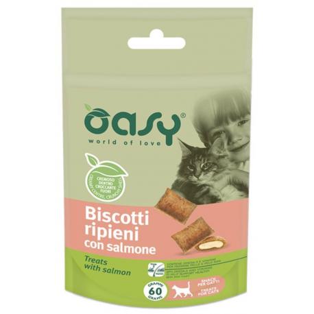 Oasy Cat Snack Biscotti Ripieni Al Salmone 60g