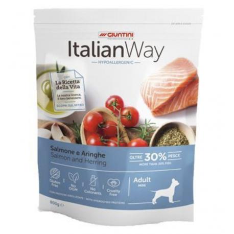 ItalianWay Ipoallergenico Salmone Aringa Cane Piccola taglia gluten free