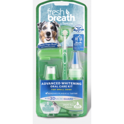 Tropiclean Fresh Breath Whitening Oral Care Kit - per Cani di Piccola Taglia