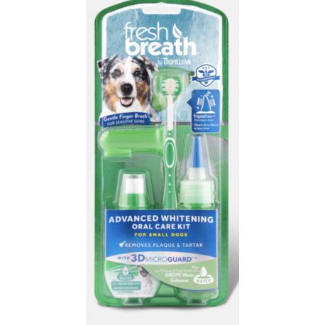 Tropiclean Fresh Breath Whitening Oral Care Kit - per Cani di Piccola Taglia
