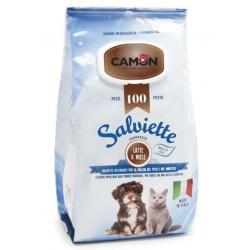 Camon Salviette Latte Miele Maxi Formato 100 Pezzi