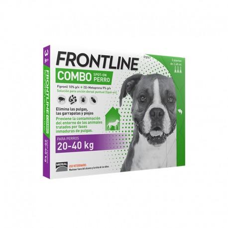 Frontline Combo cane 20-40 Kg. 3 fialette