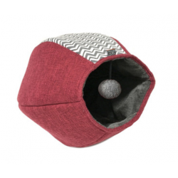 United Pets Cat Cave Nordic - Rosso Zig/Zag