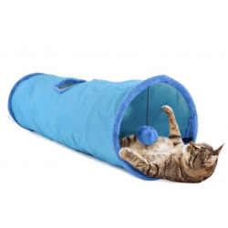 United Pets Cat Tube Tunnel per Gatto - Blu
