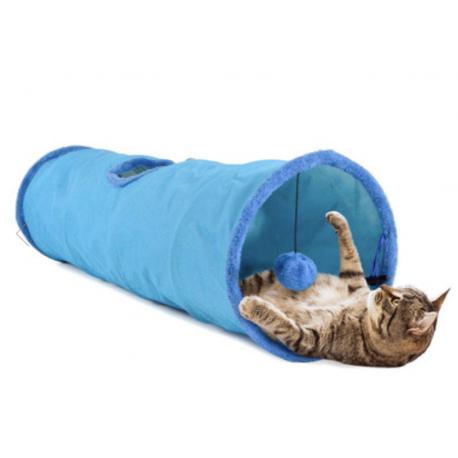 United Pets Cat Tube Tunnel per Gatto - Blu