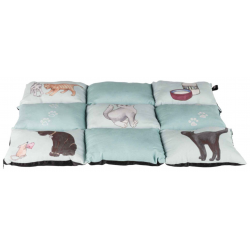 Trixie Cuscino Patchwork Cat - Menta
