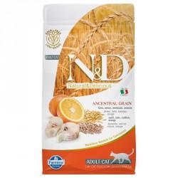 N&d Gatto Ancestral Grain Adulto Merluzzo e Arancia