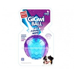 GiGwi Ball Solid Trasparente con Squeaker