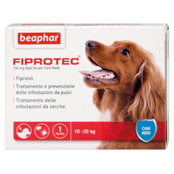 Beaphar Fiprotec Spot On Cane Taglia Media 10-20Kg