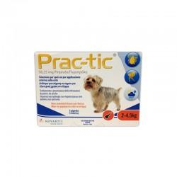 Prac-tic 2-4,5 Kg Antiparassitario per Cane Novartis