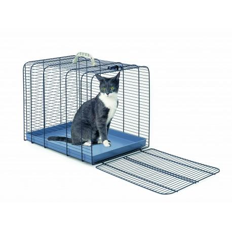 Gabbia Trasporto Gatto Blu