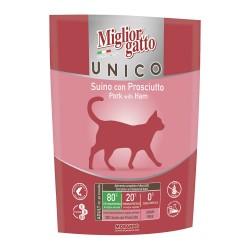 Morando Miglior Gatto Unico Grain&Gluten Free Suino con Prosciutto - 400gr