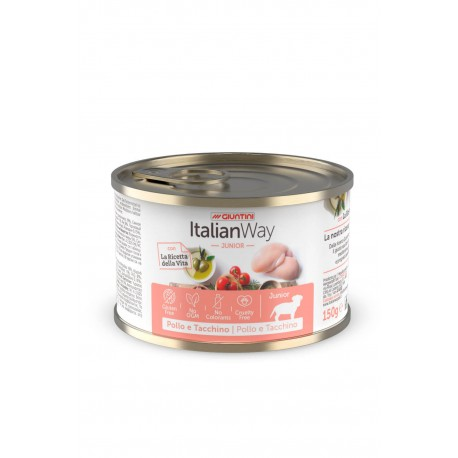 ItalianWay Dog Junior Pollo e Tacchino 150g