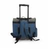 Trasportino Blu Grigio Con 2 Tasche