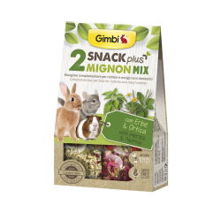 Gimborn Gimbi Snack Plus 2 Mignon Mix con Erbe & Ortica - 50g
