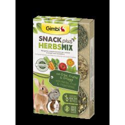 Gimborn Gimbi Snack Plus Herbs Mix con Erbe, Frutta & Ortaggi - 50g