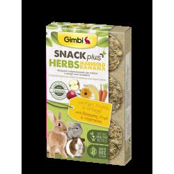 Gimborn Gimbi Snack Plus Herbs Marigold Banana con Fiori, Frutta & Ortaggi - 50g