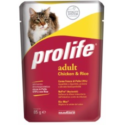 Prolife Cat Adult Pollo & Riso Bustina 85g