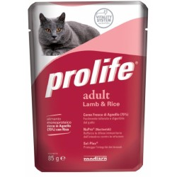 Prolife Cat Adult Agnello & Riso Bustina 85g