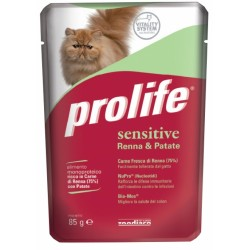 Prolife Cat Sensitive Renna & Patate Bustina 85g